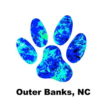 Outer Banks NC Dog Paw  by barryknauff