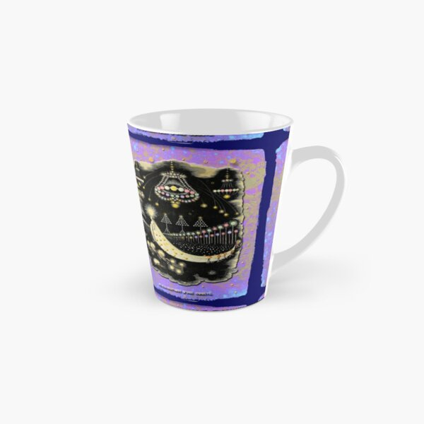 'Wanderings Of A Comet' With Gold, Blue And Purple Hues Tall Mug