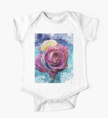 Colorful Bloom Blossom Paint Art One Piece - Short Sleeve