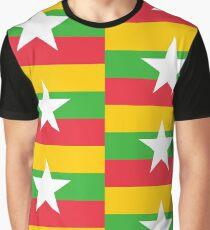 Flag of Myanmar Graphic T-Shirt