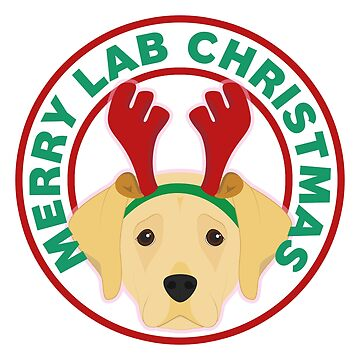Merry Christmas Yellow Lab Labrador Retriever by CafePretzel
