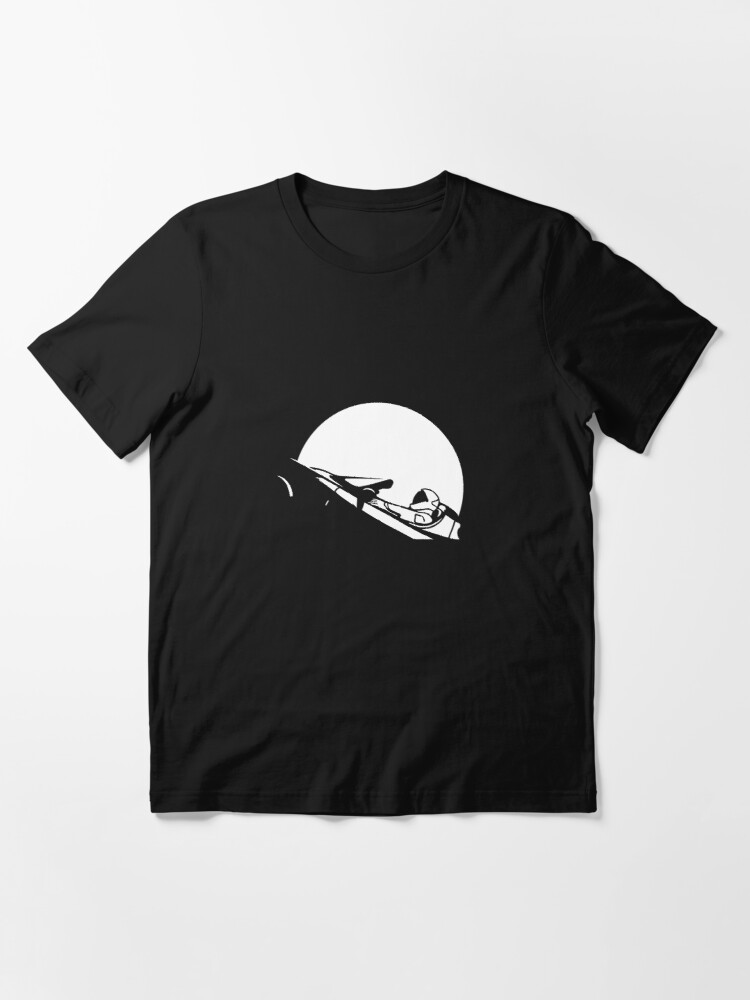 Alternate view of Starman In Space Tesla Roadster (Simplified) Essential T-Shirt