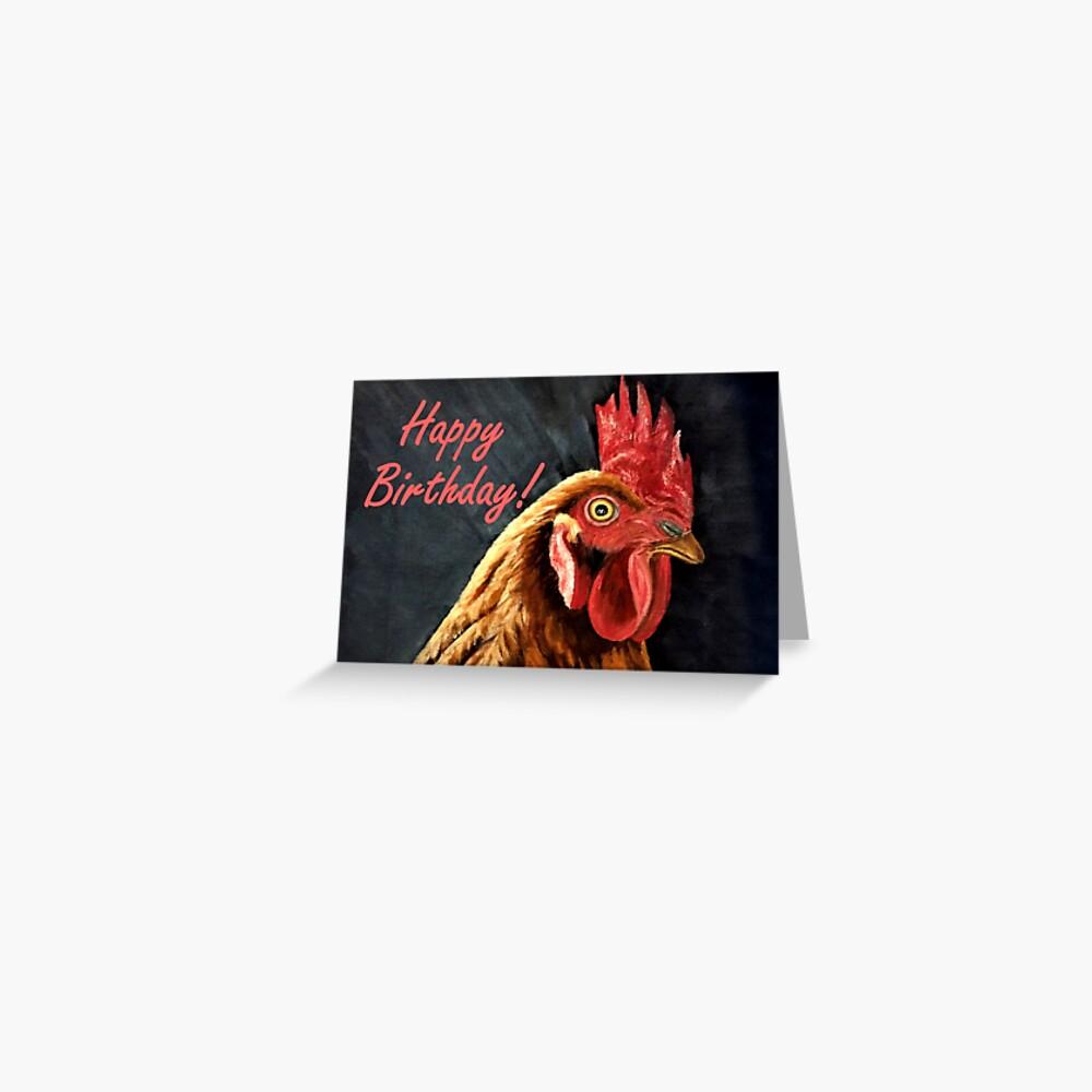 Hen Birthday Card  Greeting Card