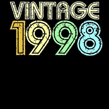 Vintage 1998 Retro 90's 20th Birthday Gift by peter2art