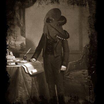Lovecraft, Cthulhu Sepia Print, Gothic Horror by gorillamerch