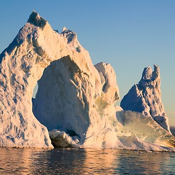 Icebergs from the icefjord, Ilulissat, Disko Bay, Greenland, Polar Regions at sunset by PhotoStock-Isra