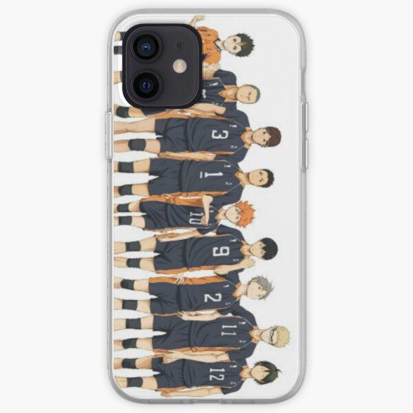 Équipe de volleyball Karasuno Coque souple iPhone