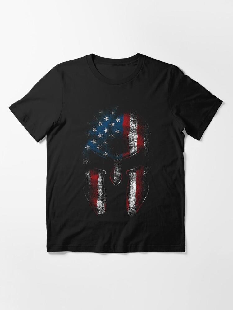 Alternate view of Spartan Warrior American Flag USA Merica Sparta Pride  Essential T-Shirt