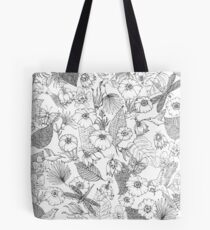Tender tropic black and white Tote Bag