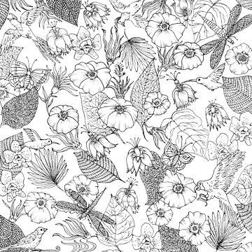 Tender tropic black and white by MissARobi