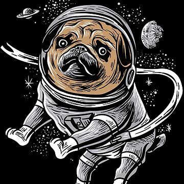Astronaut Pug Astropug Pet for Space Pug Lover by WWB2017