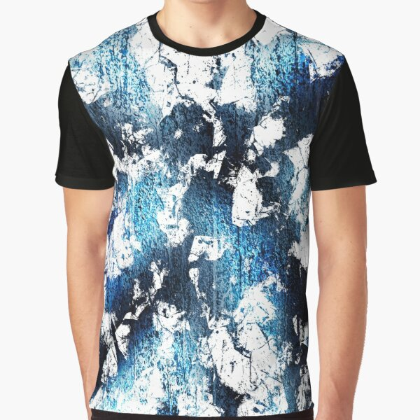 Blue sapphire and opal marbled abstract Graphic T-Shirt
