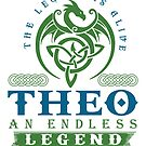 Legend T-shirt - Legend Shirt - Legend Tee - THEO An Endless Legend by wantneedlove