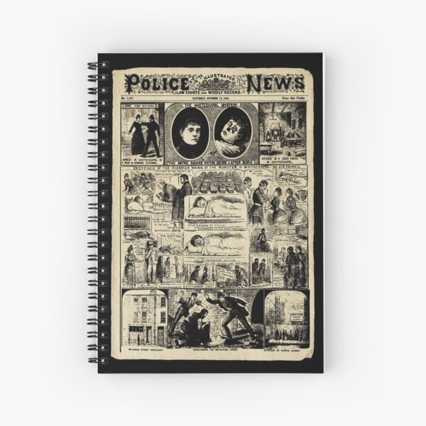 Illustrated Police News, octobre 1888. Cahier à spirale