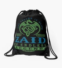 Legend T-shirt - Legend Shirt - Legend Tee - ZAID An Endless Legend Drawstring Bag