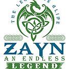 Legend T-shirt - Legend Shirt - Legend Tee - ZAYN An Endless Legend by wantneedlove