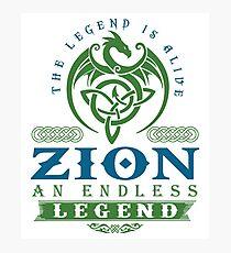 Legend T-shirt - Legend Shirt - Legend Tee - ZION An Endless Legend Photographic Print