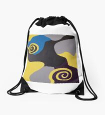 Swirl Drawstring Bag