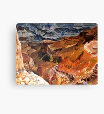 Mule Train at the Grand Canyon Canvas Print