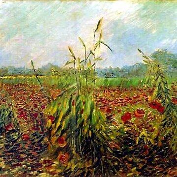 Van Gogh - Green Corn Stalks by virginia50