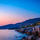 Sunset near the old  lighthouse of Trieste by zakaz86