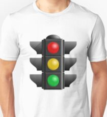 A traffic light with red, yellow and green lights Unisex T-Shirt