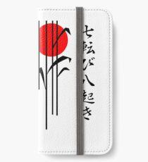 Japan - Herbst sieben Mal aufstehen Acht iPhone Flip-Case/Hülle/Klebefolie