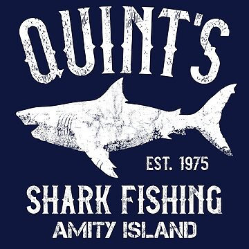 Quint's Shark Fishing - Amity Island 1975 Vintage by IncognitoMode