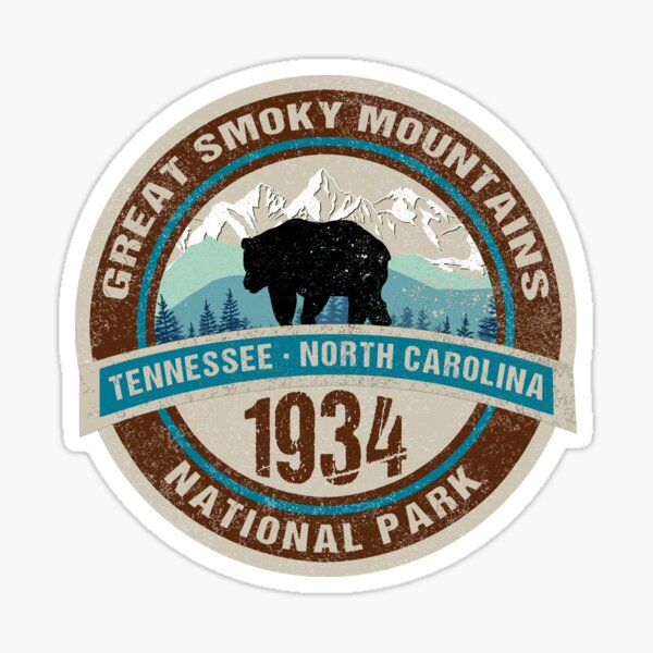 Great Smoky Mountains National Park, Tennessee, North Carolina Sticker