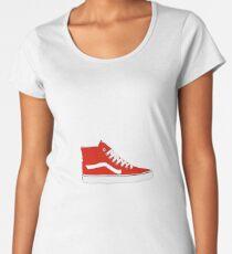 Red High Top Old Skool Vans Shoes Women's Premium T-Shirt