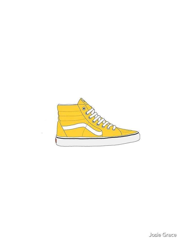 41af4a03030 Yellow Old Skool High Top Vans
