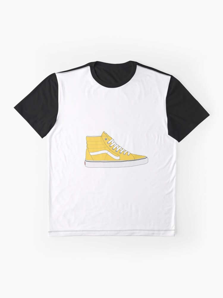 52d5c9508e1 Yellow Old Skool High Top Vans Graphic T-Shirt Front. product-preview