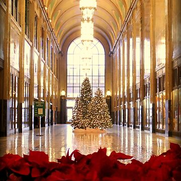 Christmas Trees And Poinsettas In The Fisher Building  by anitahiltz