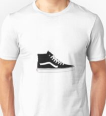 Black Old Skool High Top Vans Shoes Unisex T-Shirt