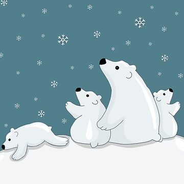 Polar Bear Family  by ValentinaHramov