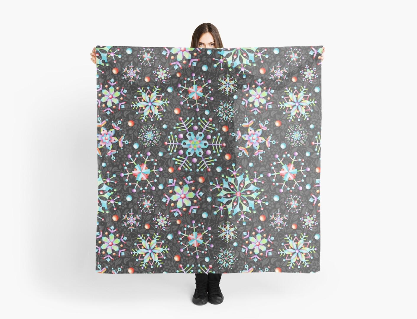 Snowflake Kaleidoscope by PatriciaSheaArt