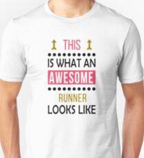 Runner Awesome Looks Birthday Running Christmas Funny Unisex T Shirt