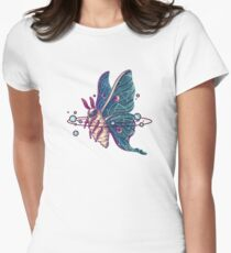 Space Moth Women's Fitted T-Shirt