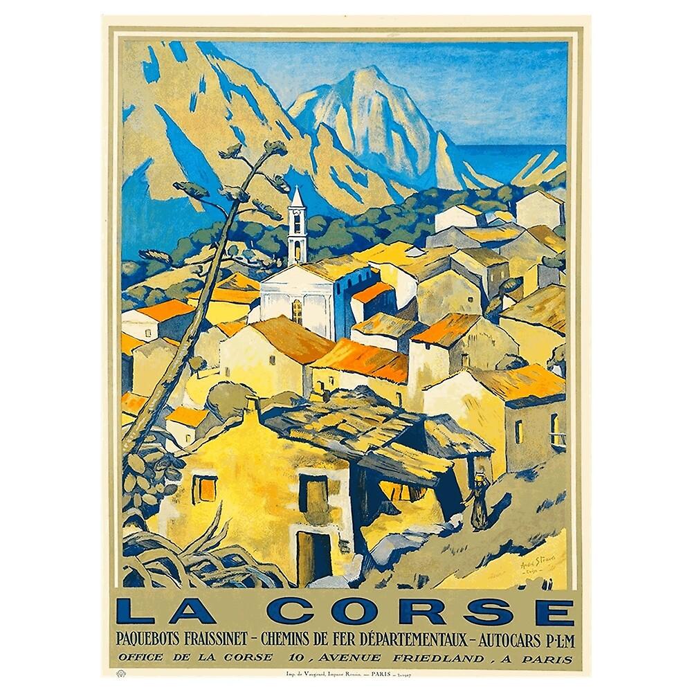 La Corse - Corsica: Vintage Travel Poster by Chunga