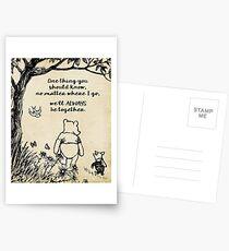 Postales Winnie the Pooh - Siempre estaremos juntos