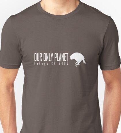Endangered animals - Kakapo Our only planet white print T-Shirt