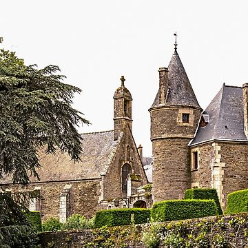 Chapel & Josselin Castle Entrance   - Josselin, Morbihan, Brittany, France by Buckwhite
