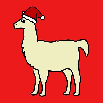 Christmas Llama by jezkemp