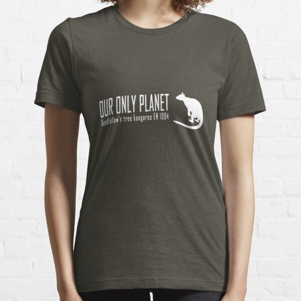 Endangered animals - Goodfellow's tree kangaroo Our only planet white print Essential T-Shirt