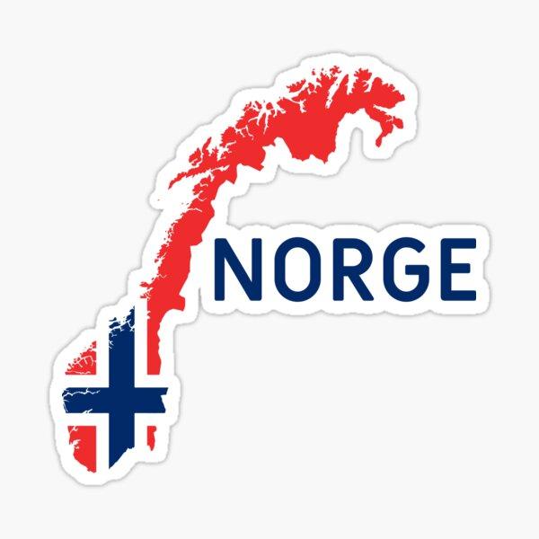 Aufkleber Flagge n Norwegen