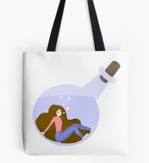 Girl in a Bottle Tote Bag