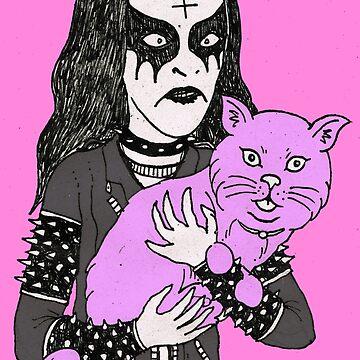 black metal cat by MUMtees