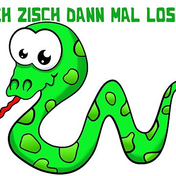 Snake cartoon with funny saying by AK1Shirts