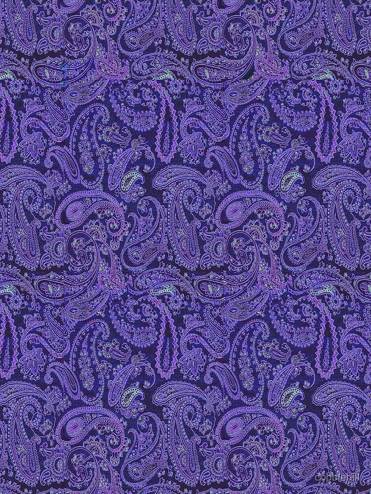 purple paisley by cobblehill