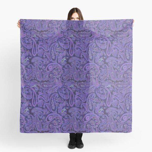 purple paisley Scarf